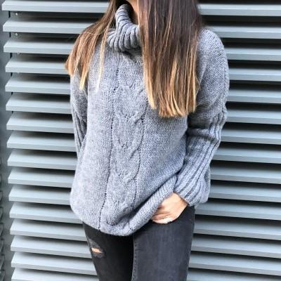 Camisola Trança larga | Cinza