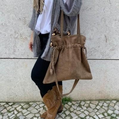 Mala Saco Camurça | Taupe