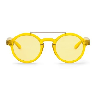 Lemon Metal Dalston with transparent yellow lenses