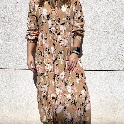 Vestido Floral   Salmão
