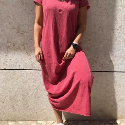 Vestido Comprido Asas | Taupe