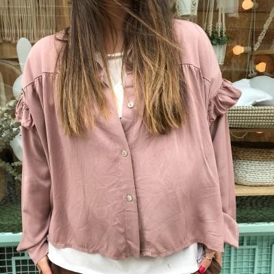 Camisa Folho | Rosa Velho