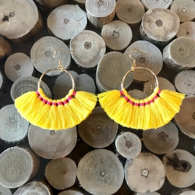 Brincos Étnicos | Amarelo