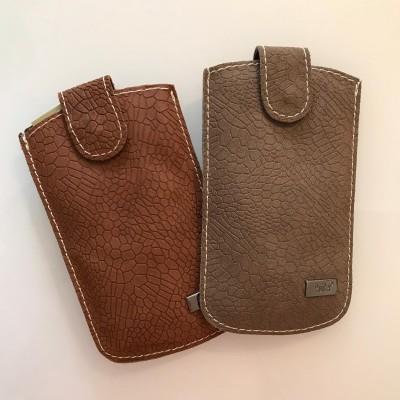 Bolsa para telemóvel em pele | croc
