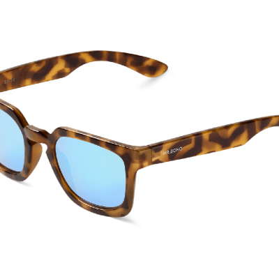 HC TORTOISE SALESAS WITH SKY BLUE LENSES