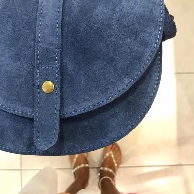 Bolsa Tiracolo | Camurça Azul