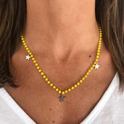 Fio Pedras Amarelas com Estrelas