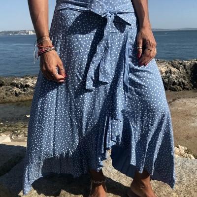 Saia Padrão Bolinhas XL | Azul