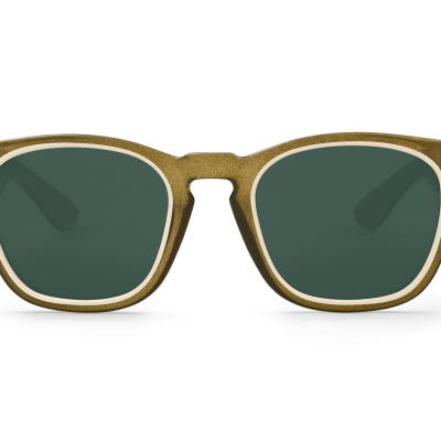 Circular Cream/Olive Isola with classical lenses