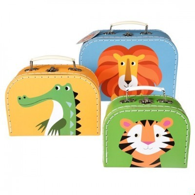 Conjunto 3 Caixas | Leão, Tigre e Corcodilo