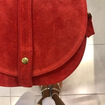 Bolsa Tiracolo | Camurça Vermelho