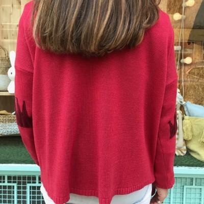 Camisola Cotoveleiras Corôa | Vermelho
