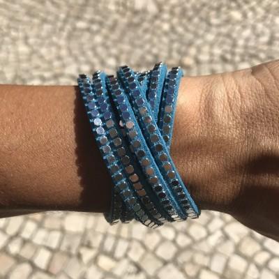 Pulseira Duas Voltas | Azul