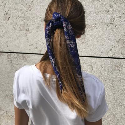 Elástico Cabelo Pontas Compridas | Azul