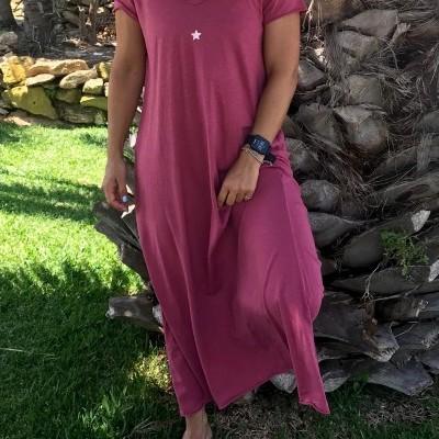 Vestido Comprido Mini Estrela | Beringela