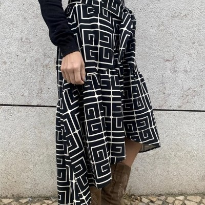 Saia Salero | Preto Lisa