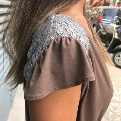 Macacão | Ombro Lantejoulas