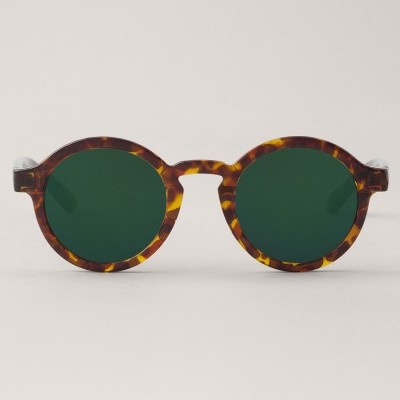 Cheetah Tortoise Dalston with Dark Green Lenses