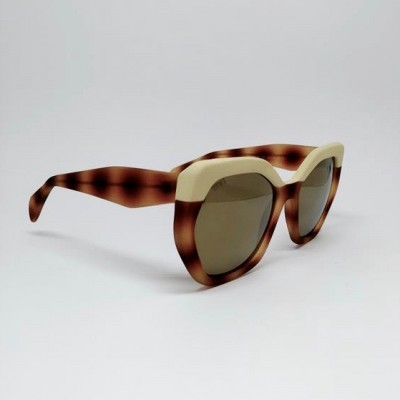 CHARON | RUBBER BICOLOR HAVANA WITH GOLD MIRRORED LENSES