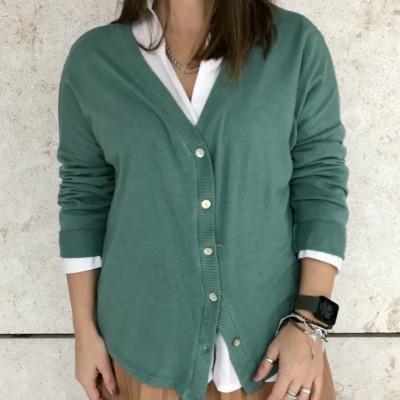 Casaco de Malha | Verde