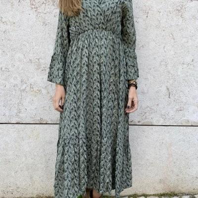 Vestido Pomelo Cruzado | Kaki