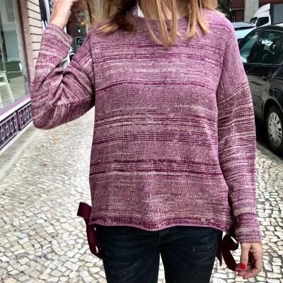 Camisola Laços Bordeaux | RUGA