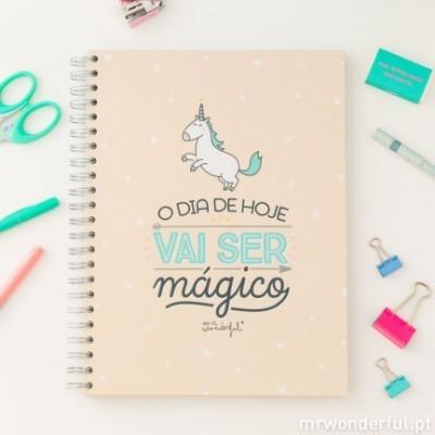 Caderno grande - O dia de hoje vai ser mágico