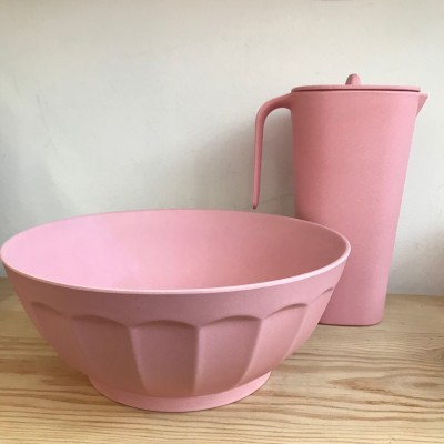 Conjunto Mesa Vintage | Saladeira Rosa