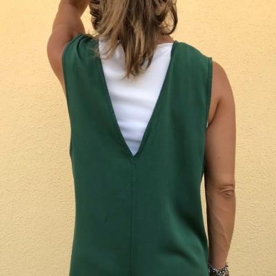 Jumpsuit Decote em V | Verde Garrafa