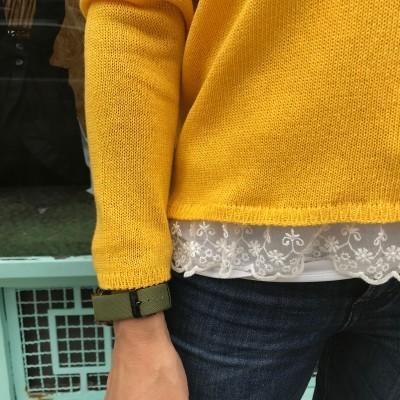 Camisola com renda | Amarelo