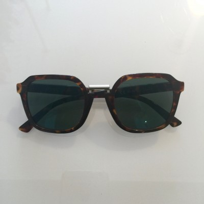 Cheetah Tortoise Bushwick  with dark green lenses