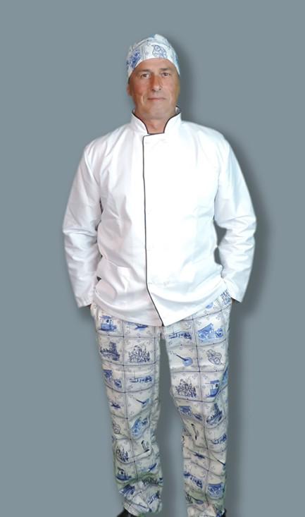 Conjunto calça e touca bandana em cambraia 65% Poliester 35 % Algodão