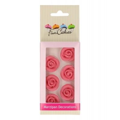 Decorações Massapan Rosas Rosa, Pk/6