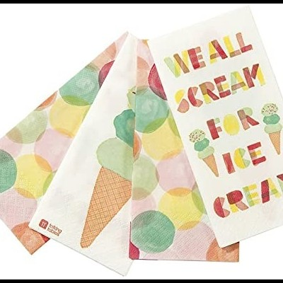 Guardanapos We Heart Ice Cream,pk/20