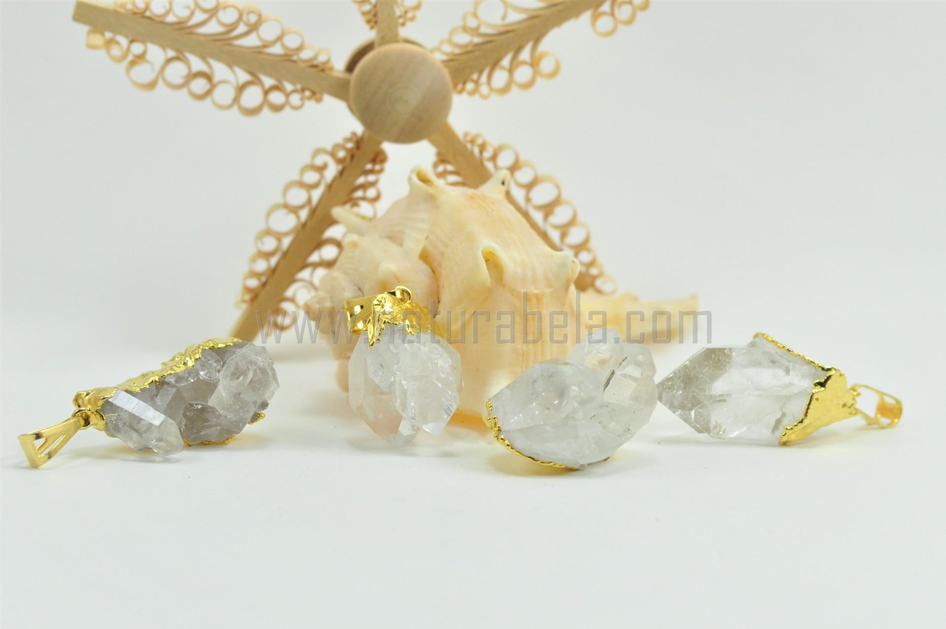 Pendente drusa de Quartzo Cristal