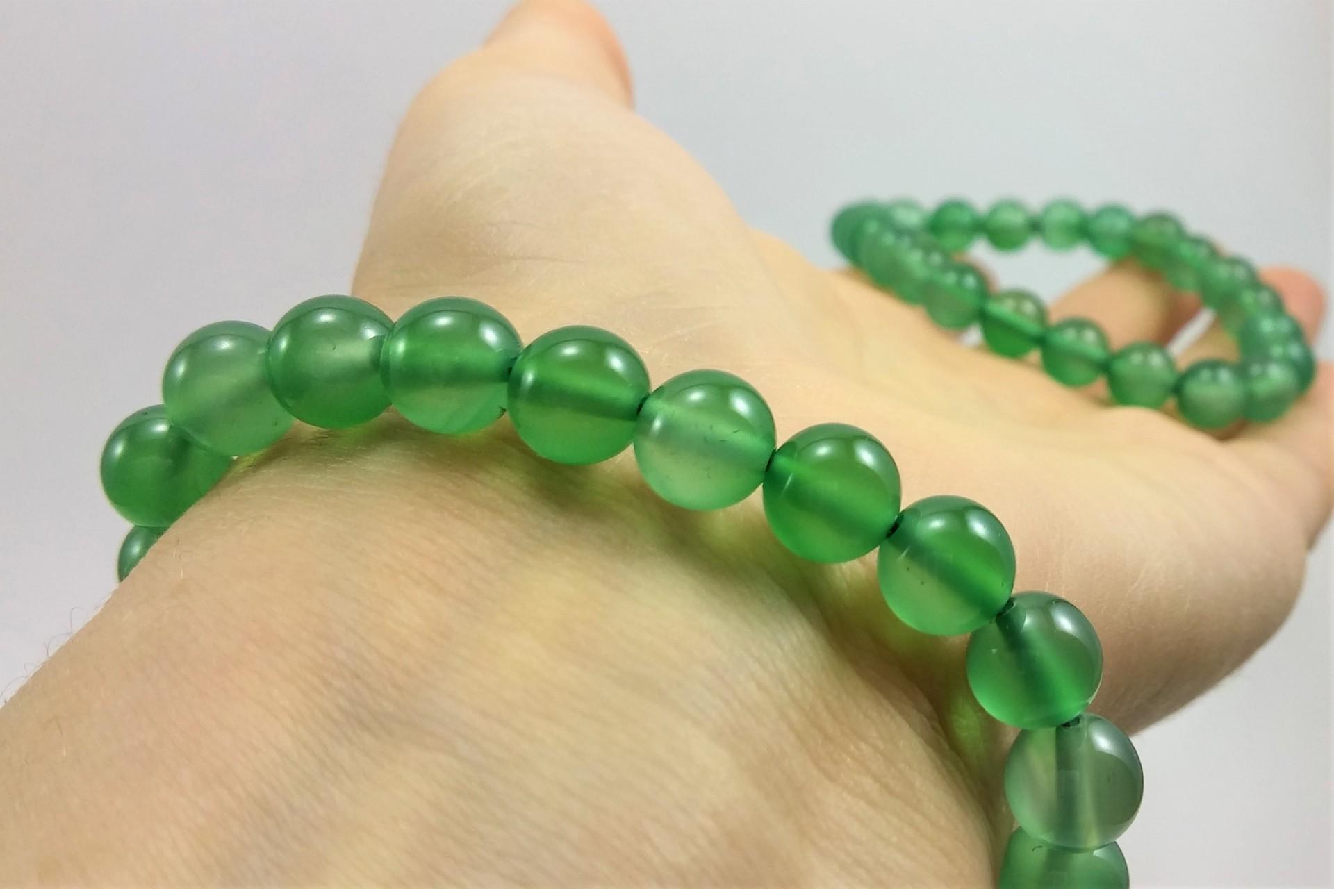 Pulseira de bolas Ágata verde