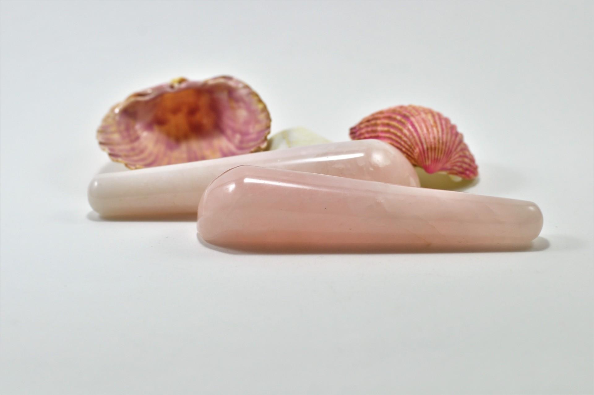 Massajador cone de Quartzo rosa