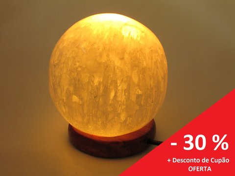 Esfera Selenite Luminosa USB