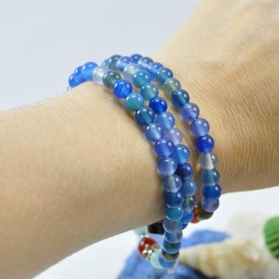 Pulseira Colar Sapo da Sorte Azul Marinho