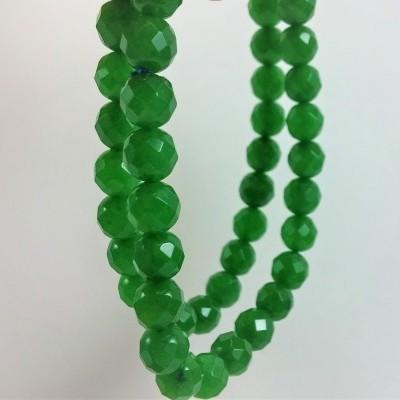 Pulseira de bolas facetadas de Jade Verde