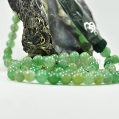 Japamala de Aventurina Verde 8mm com símbolo OM