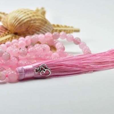 JAPAMALA de quartzo rosa