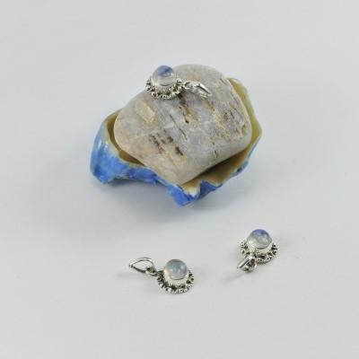 Pendente em Prata Pedra da Lua Mini