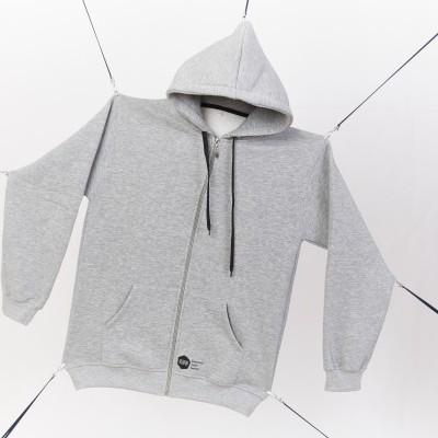 Grey hoodie black logo