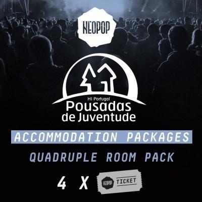 Quadruple Room Pack - Pousada Juventude Neopop 2018