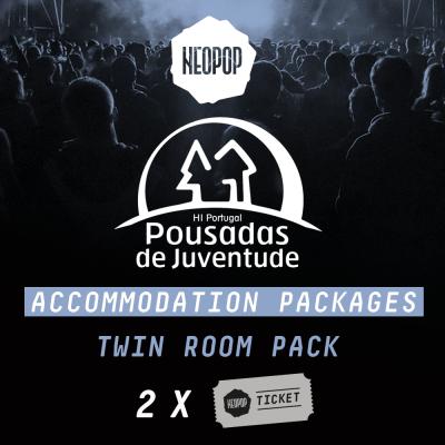 Twin Room Pack - Pousada Juventude Neopop 2018