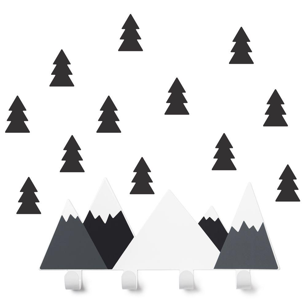 Cabide Montanhas Preta + 12 Arvores