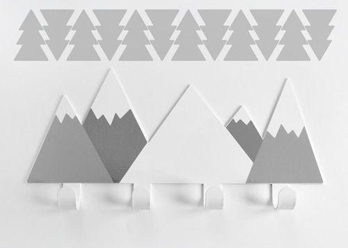 Cabide Montanhas Cinza + 12 Arvores