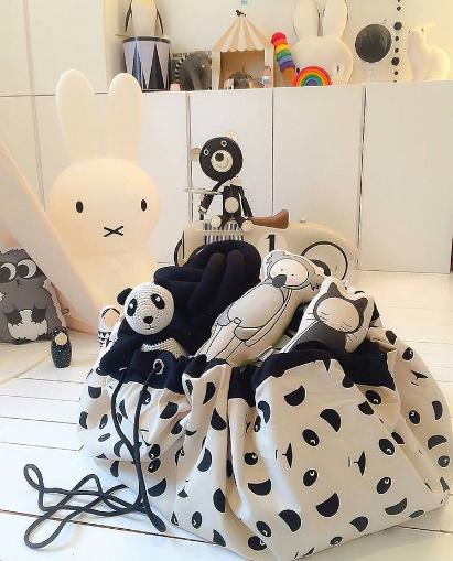 Saco de Brinquedos - Pandas