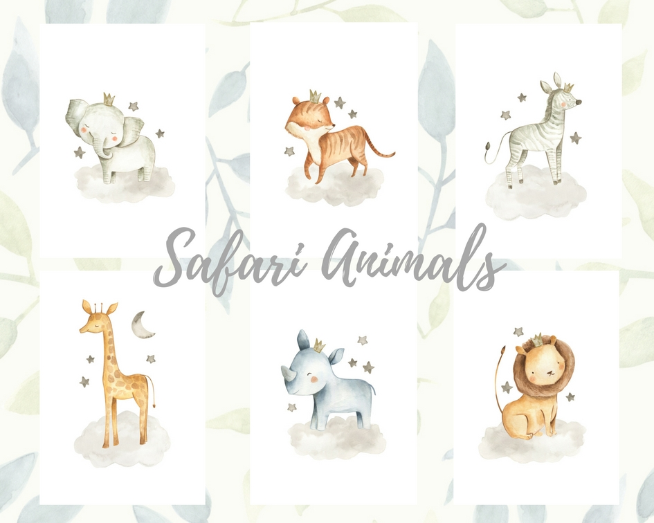 "Quadros ""Safari Animals"""